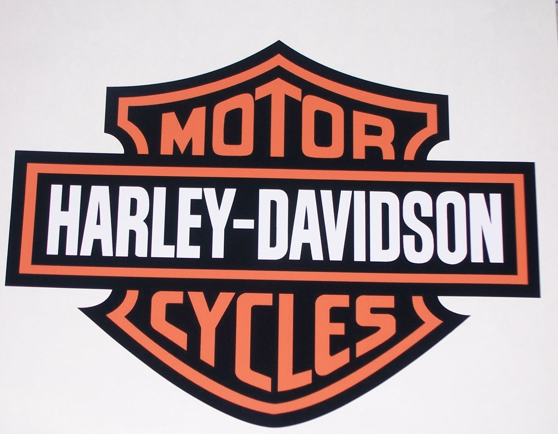 Harley Davidson BAR amp SHIELD FULL COLOR Window Or Wall 8 X