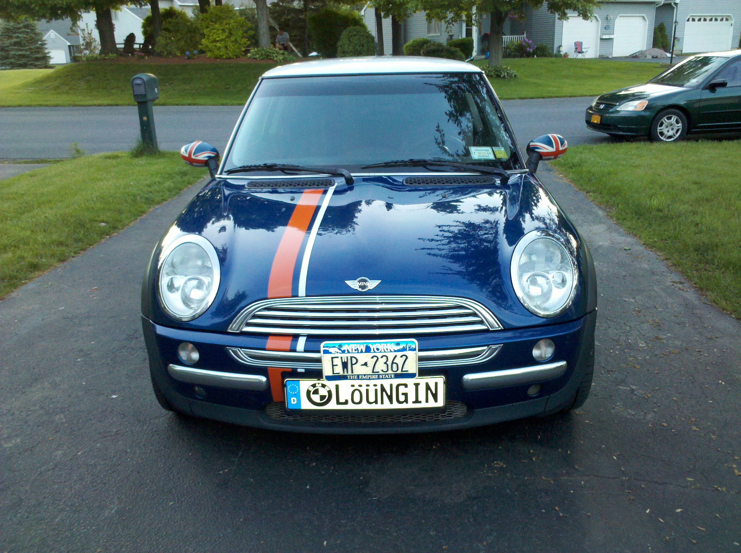 Car custom decals and graphics - Mini Cooper Thin 2 Color Offset Stripe Graphic Decals