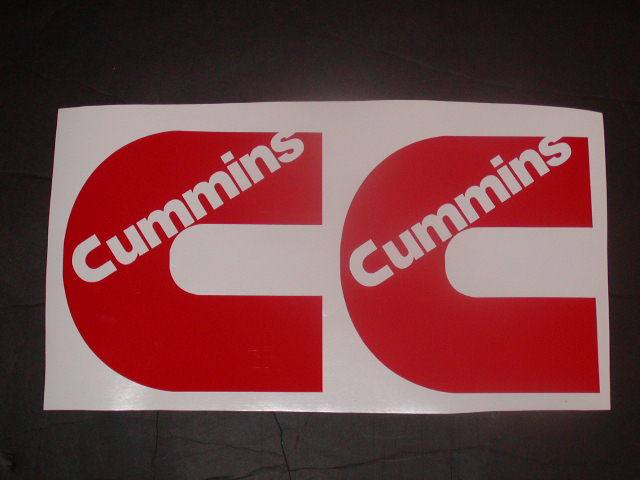 �Cummins Logos 8X8 Pair