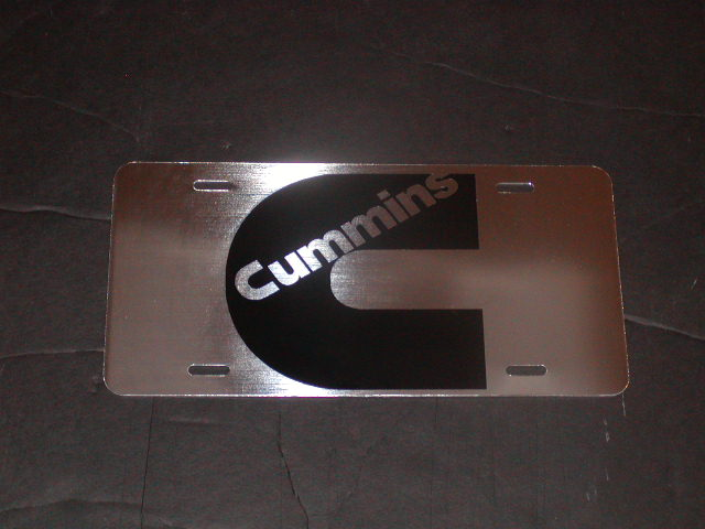 Cummins C Logo STAINLESS STEEL Vanity License Plate