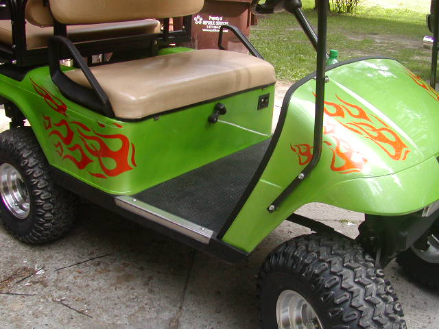 Golf Cart Flame Graphic set #2