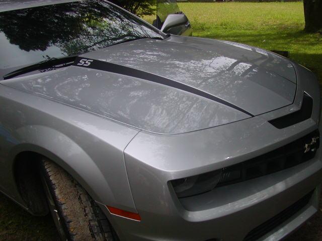 "2010 - 2011 Camaro "" SS "" Hood Cowl Stripe Decals"