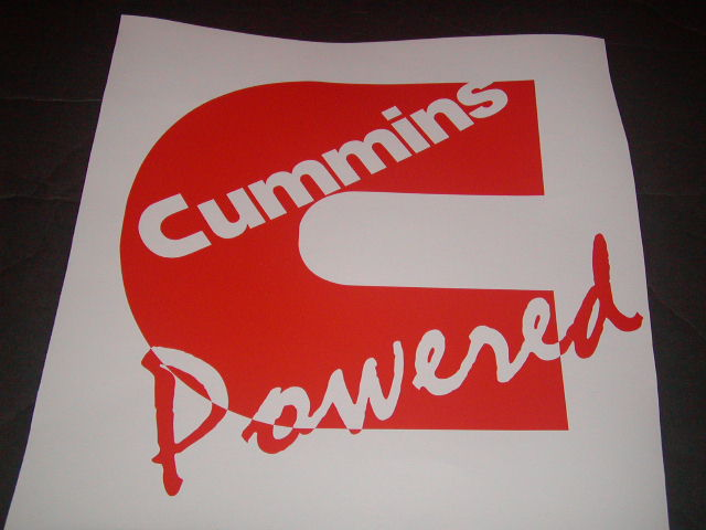 �Cummins Power Window Decal