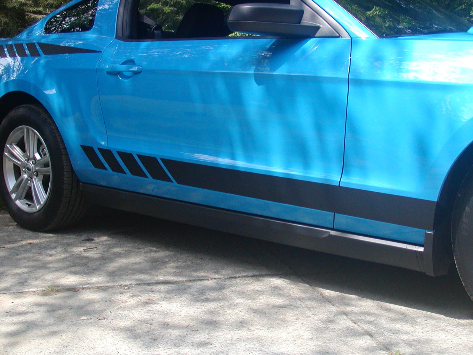 2010 - 2011 - 2012 Mustang Faded Rocker stripes #1