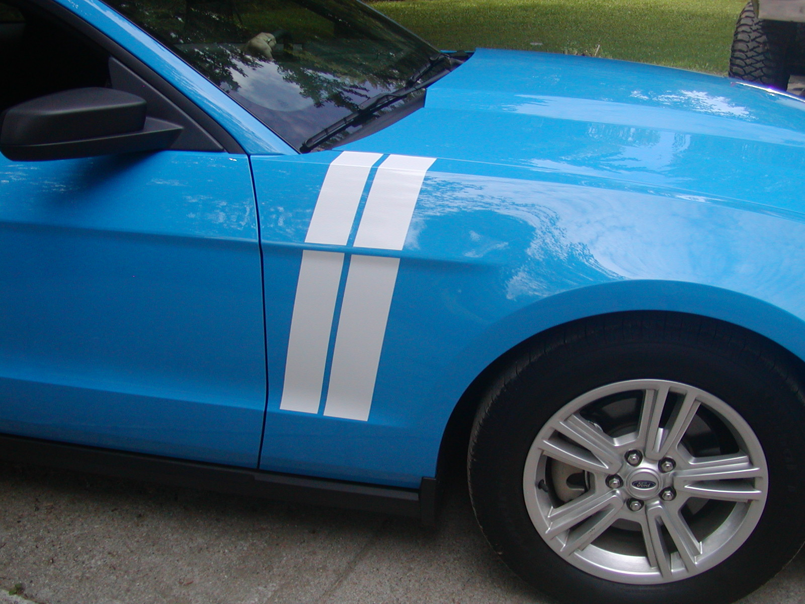 2010 - 2011 - 2012 Mustang Long Hash Mark Stripes