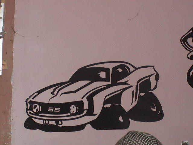 69 Camaro Wall Garage or Garage Door Graphic Decal
