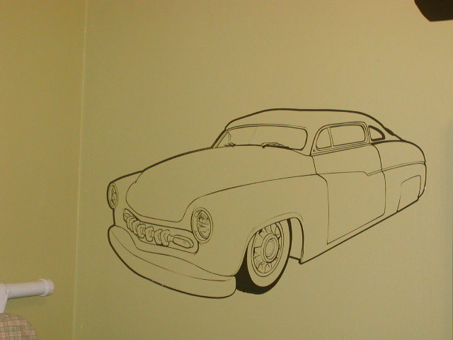 Mercury Street Rod Wall Garage or Garage Door Graphic Decal