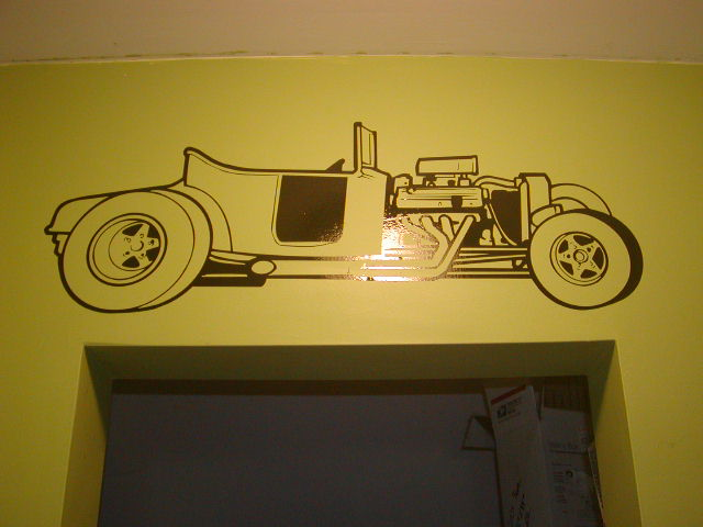 T-bucket Street Rod Wall Garage or Garage Door Graphic Decal