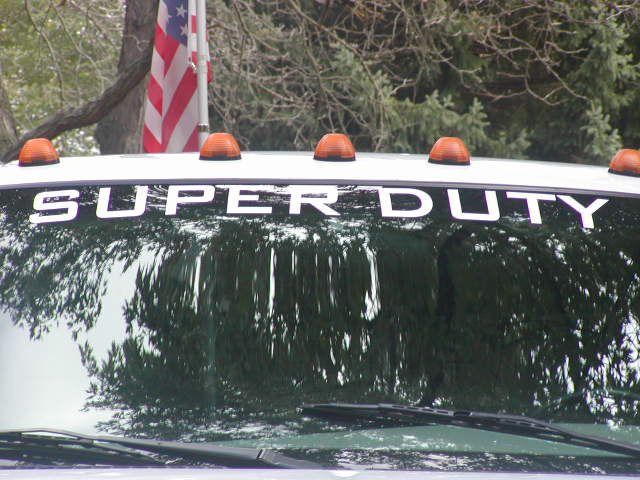 SUPER DUTY Windshield or rear window Decal