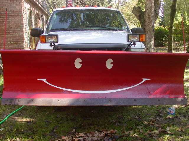 Snow Plow Smiley Face Graphic set #6 Meyer Fisher Western Boss