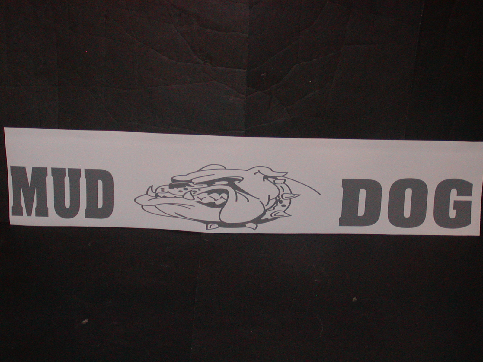 Mud Dog Windshield Or Tailgate Decal