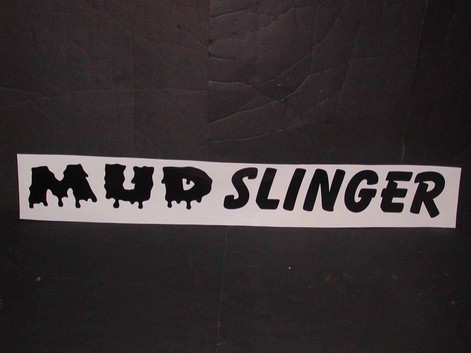 Mud Slinger Windshield Or Tailgate Decal