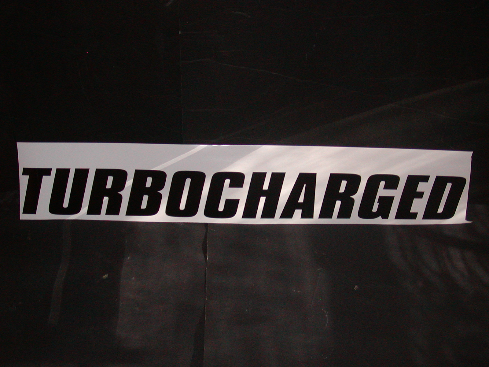 �Turbocharged #1 Windshield or window Decal