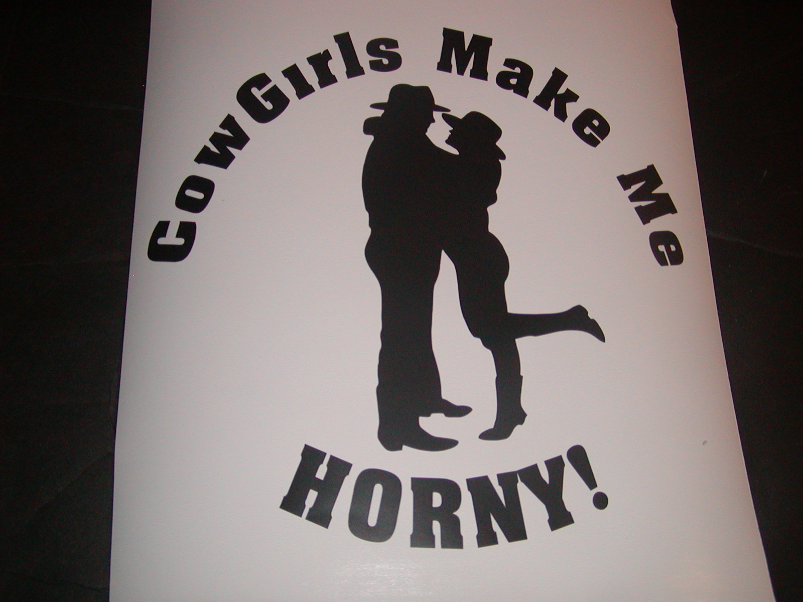 �Cowgirls Make Me Horny Decal