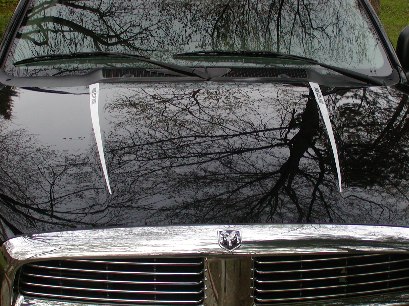Your Text 2002-2009 Dodge Ram Hood Accent Stripes
