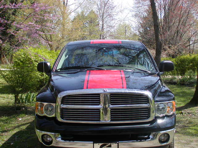 "2002 - 2009 Dodge Ram 22"" wide Center Rally Stripe Set"