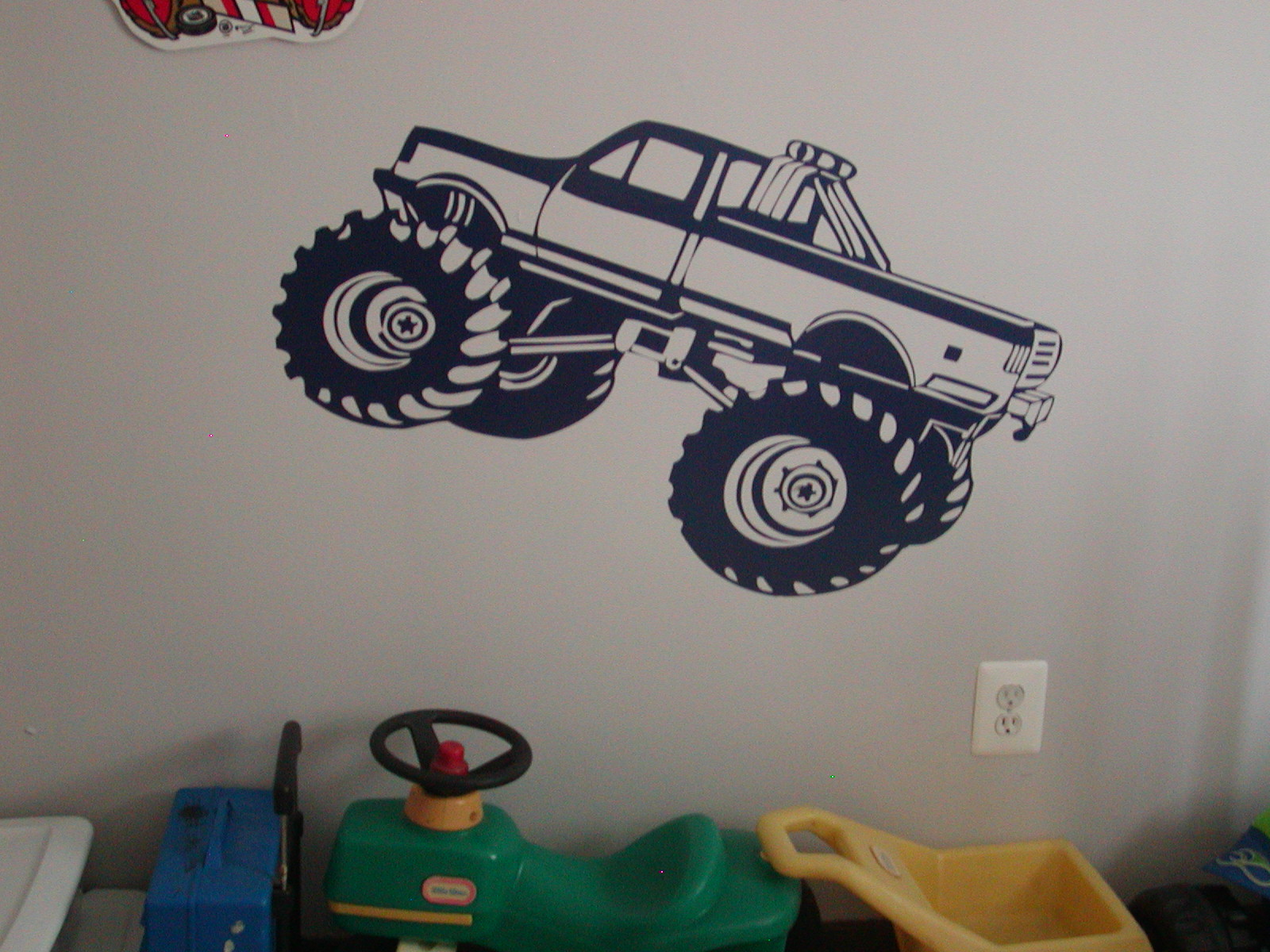�MONSTER TRUCK (Big Foot) Wall Garage or Garage Door Graphic Decal
