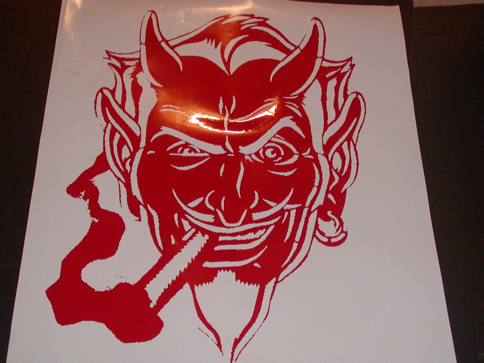 Devil Smile Old School Hot Rod Hood Graphic