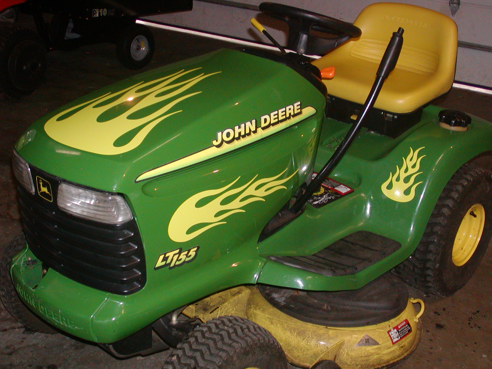 Lawn Tractor Flame Graphics set