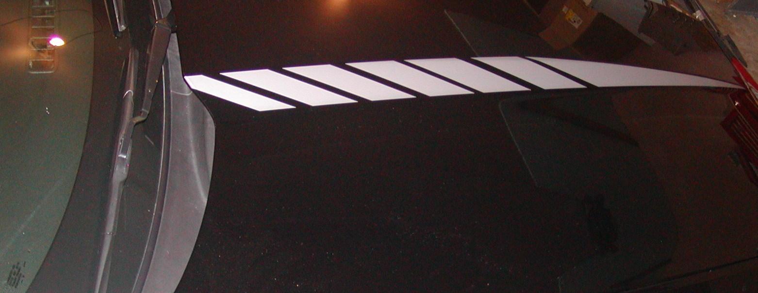 �2010 - 2011 Camaro FADING Hood Cowl Stripe Decals
