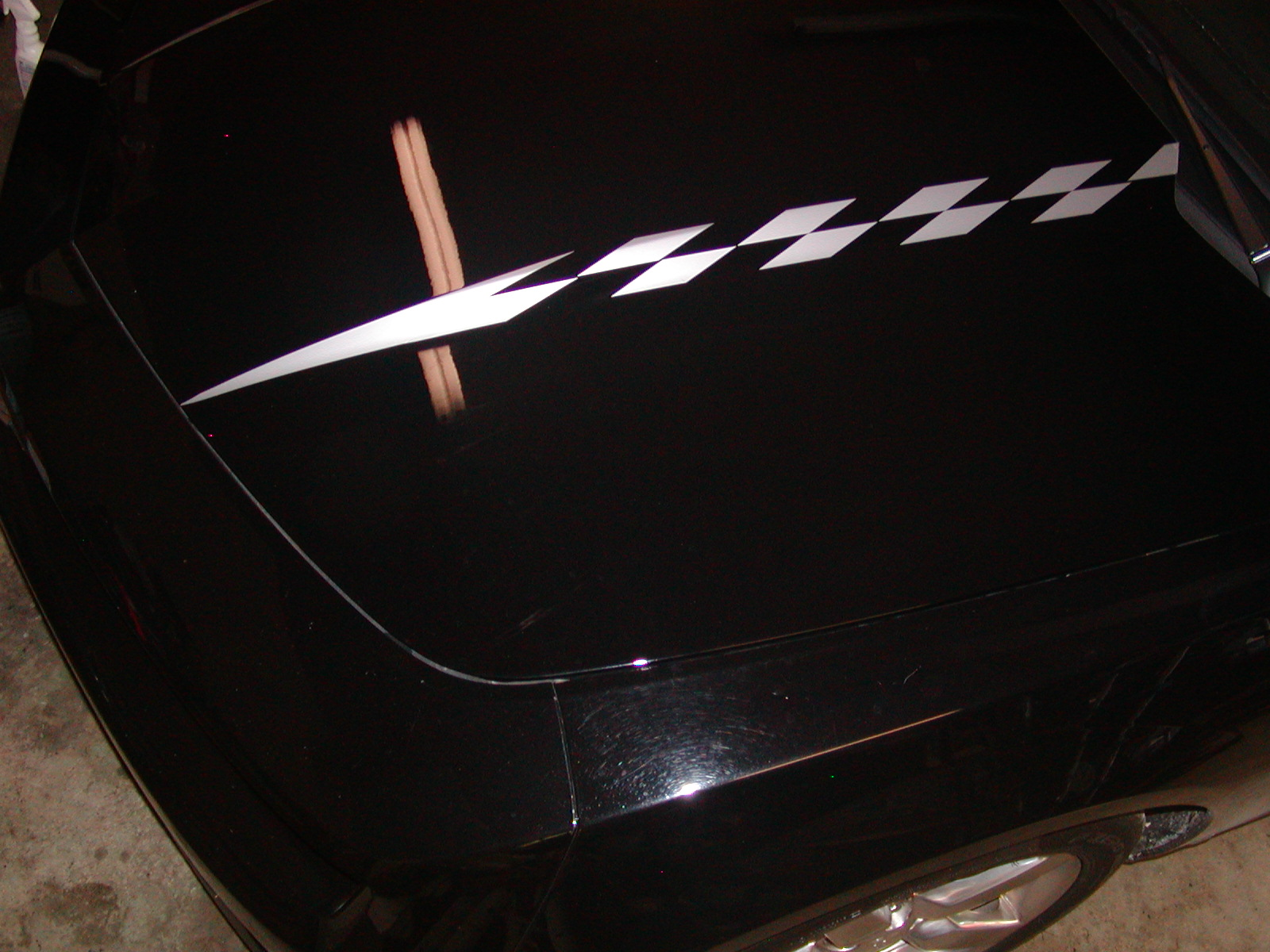 �2010 - 2011 Camaro RACING CHECK Hood Cowl Stripe Decals
