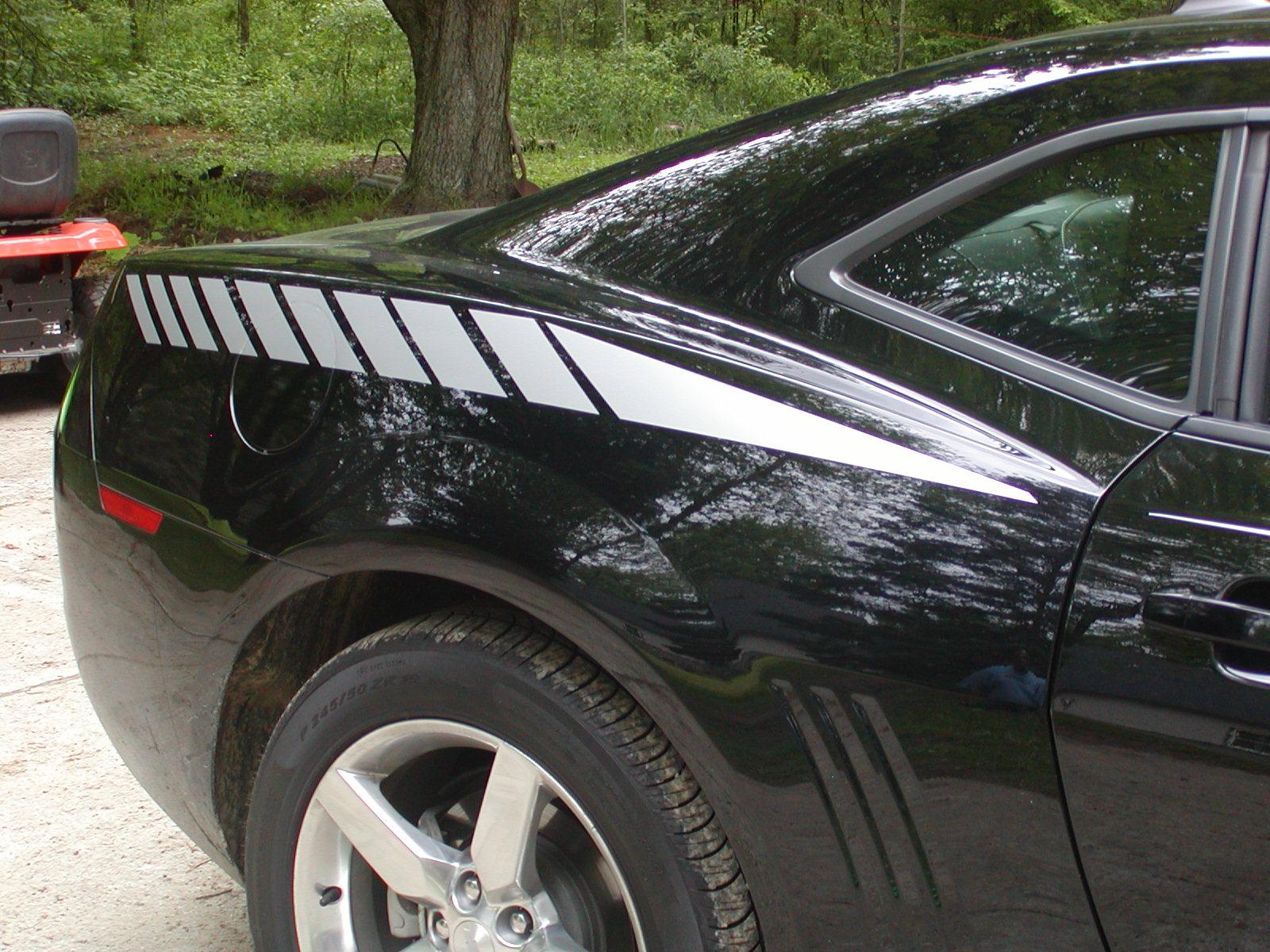 2010 2011 Camaro FADING Rear Quarter Fender Stripe Decals