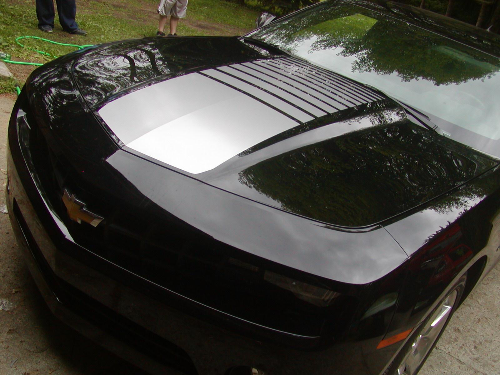 2010 - 2011 Camaro FADING CENTER HOOD Stripe Decal