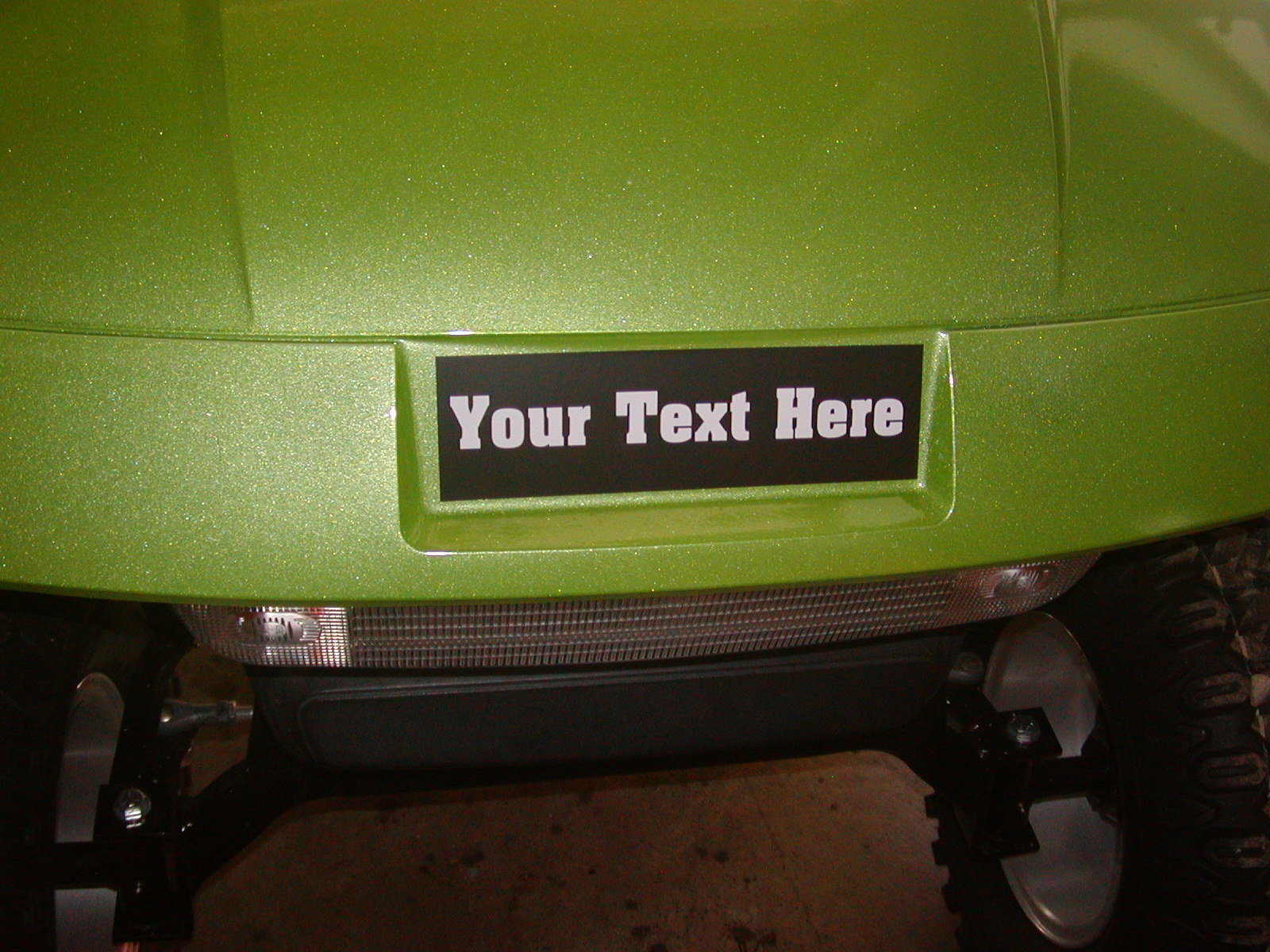YOUR TEXT 2 color EZGO Logo Cover Decal