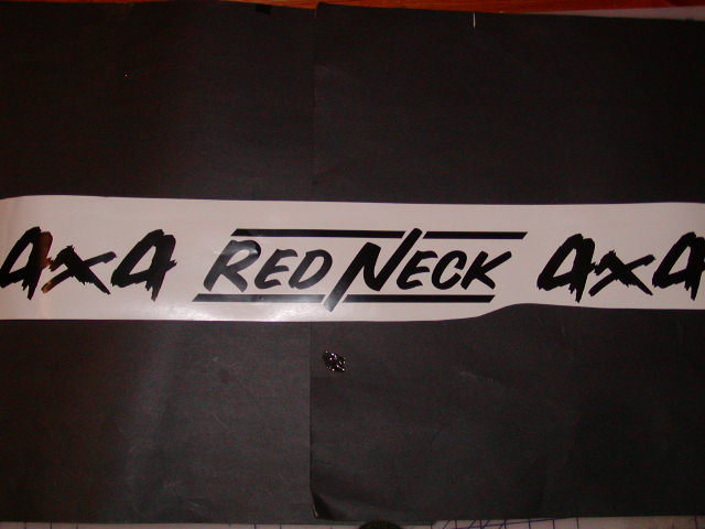 RED NECK 4X4 Window Windshield or Tailgate Decal