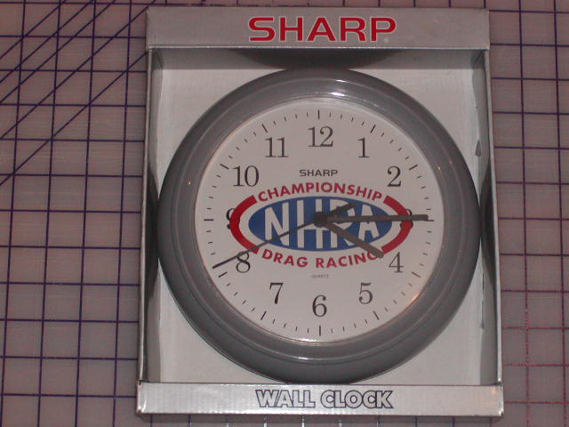 "11.5"" Round NHRA Quartz Wall Clock"