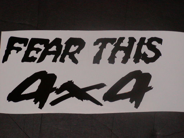 �Fear this 4x4 Decal Decals
