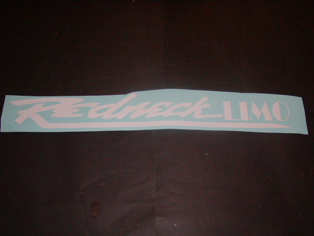 �REDNECK LIMO Windshield Rear window or tailgate Decal