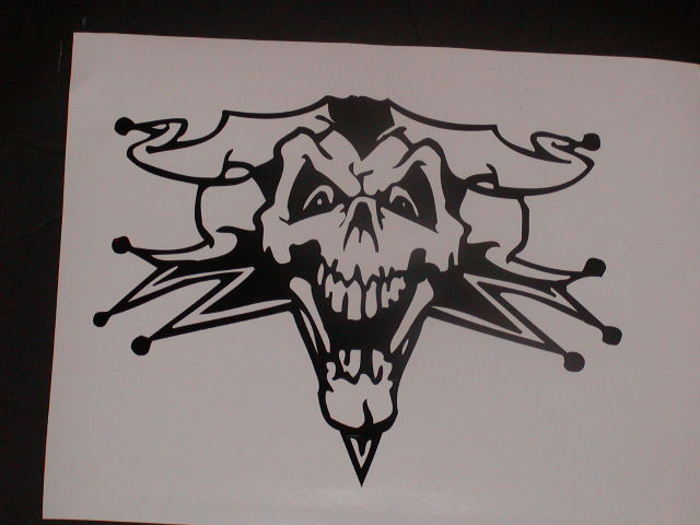 Evil Clown Skull Hood or Tailgate Graphic Decal