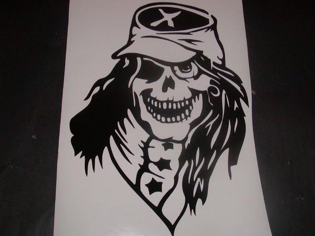 Rebal Skull Hood or tailgate decal HUGE!