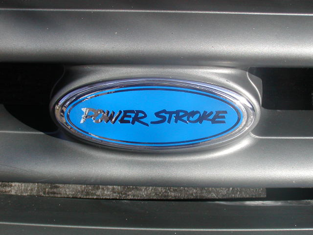POWER STROKE 98-07 F250-F450 Grill Logo Cover Decal