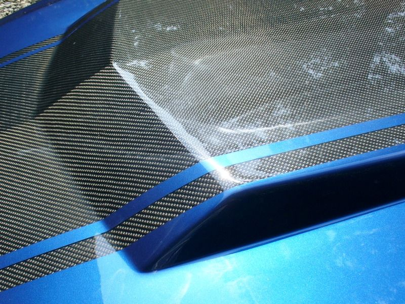 "�20"" Mustang Charger or Truck (Universal) Carbon Fiber Rally stripes"