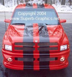 "Dodge Ram 10"" Plain Rally Stripe set"