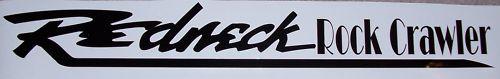 �REDNECK Rock Crawler Windshield Rear window or tailgate Decal