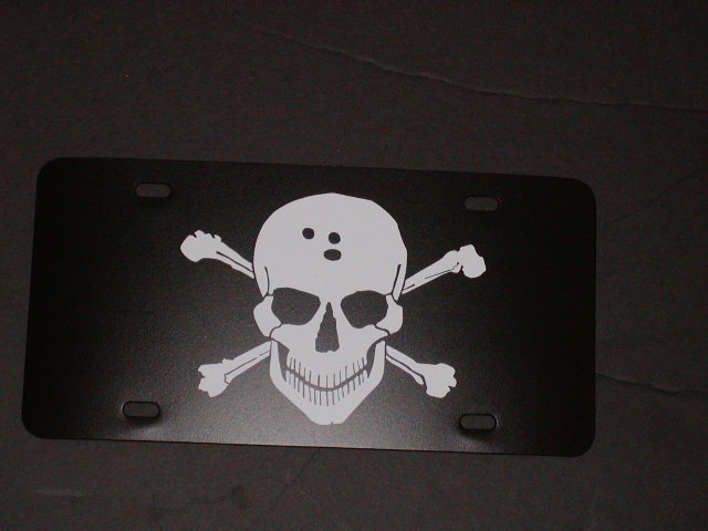 Skull Vanity License Plate