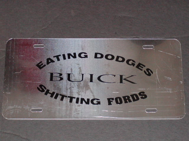�Stainless Vanity Plates You pick your logo