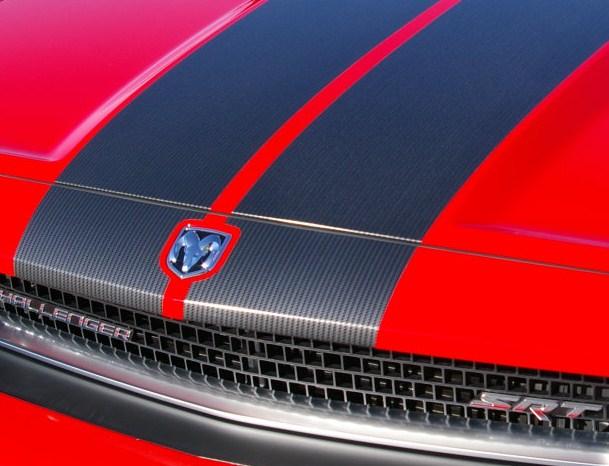"Dodge Charger Challenger CARBON FIBER 10"" Rally Stripes Stripe"