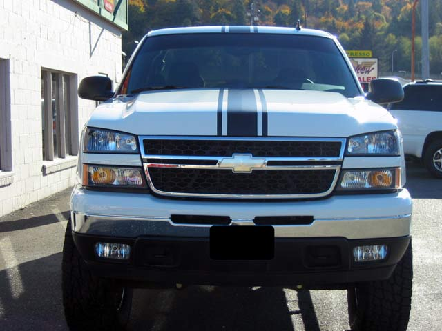 "10"" Chevy Truck Center Rally Stripes"