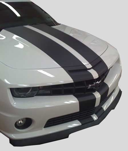 "2010 Camaro Carbon Fiber 10"" Rally Stripes Stripe Decal"