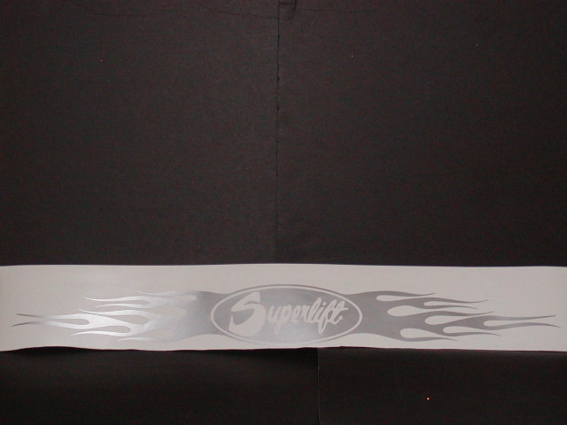 Small Superlift Tailgat or Window or bug deflector Decal Size 3.5 X 30